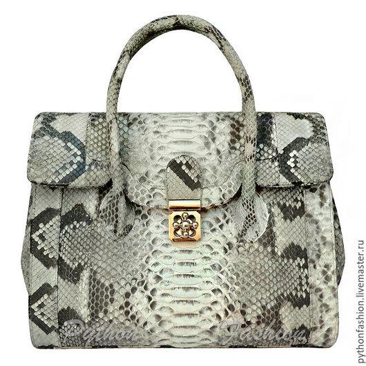 Сумка из кожи питона. Стильная сумка из питона. Авторская сумка из питона на заказ. Большая сумка из кожи питона. Дизайнерская сумка для офиса. Красивая сумка из кожи питона. Женская сумка из питона.
