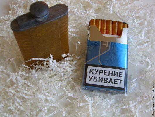 Мыло ручной работы. Ярмарка Мастеров - ручная работа. Купить набор мыла ручной работы Фляжка с ромом и сигареты. Handmade.