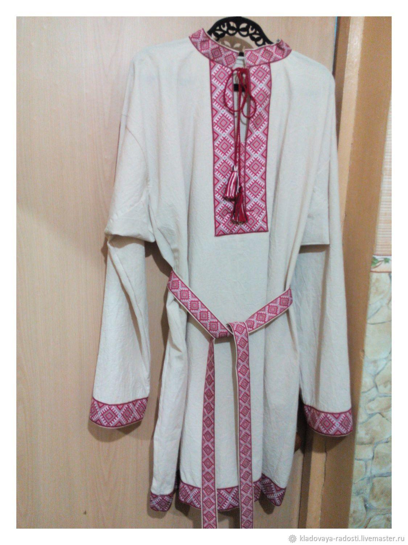 Славянская мужская рубаха, Народные рубахи, Вельск,  Фото №1