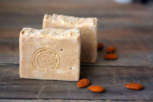 Миндальное натуральное, ароматное мыло с нуля. Натуральное мыло на кокосовом молоке с жемчужной пудрой.