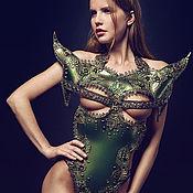 Одежда ручной работы. Ярмарка Мастеров - ручная работа Корсет. Зеленый. Handmade.