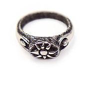 """Кольца ручной работы. Ярмарка Мастеров - ручная работа """"Поклонение солнцу"""" кольцо серебряное. Handmade."""