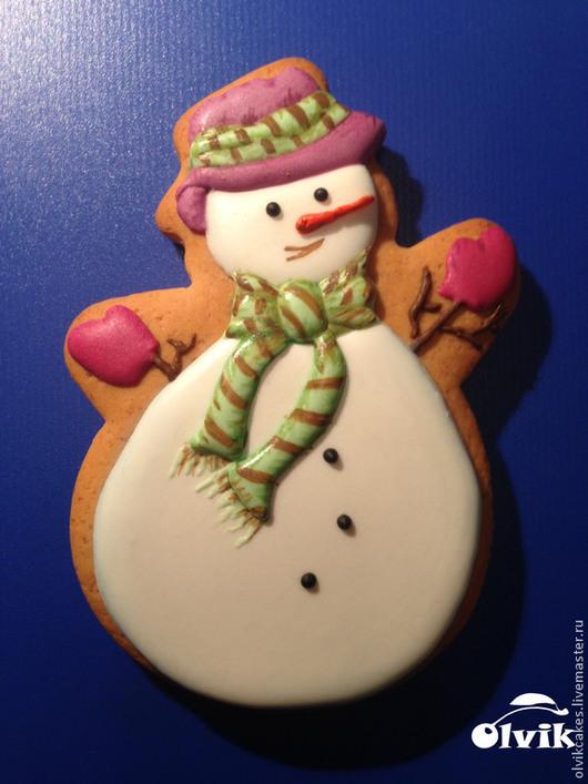 Кулинарные сувениры ручной работы. Ярмарка Мастеров - ручная работа. Купить Снеговичок. Handmade. Белый, снеговик, новогодний сувенир