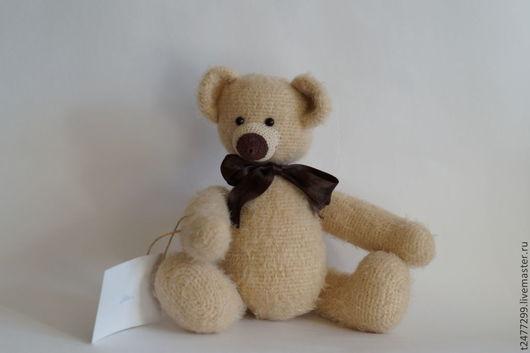 Мишки Тедди ручной работы. Ярмарка Мастеров - ручная работа. Купить Вязанный мишка Алеша. Handmade. Бежевый, мишка-тедди