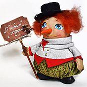 Куклы и игрушки ручной работы. Ярмарка Мастеров - ручная работа СКИДКА! новогодний  Снеговик. Handmade.