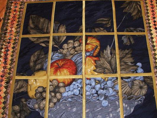 """Текстиль, ковры ручной работы. Ярмарка Мастеров - ручная работа. Купить Покрывало """"Изобилие"""". Handmade. Покрывало, оранжевый, Витраж"""