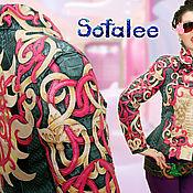 Одежда handmade. Livemaster - original item Jacket from crocodile skin, Python and lambskin jacket women`s.. Handmade.