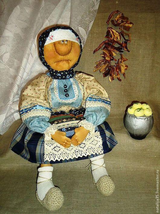 Человечки ручной работы. Ярмарка Мастеров - ручная работа. Купить На деревню к бабушке (моя самая первая кукла-примитив). Handmade.