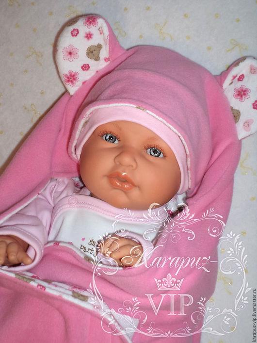 """Для новорожденных, ручной работы. Ярмарка Мастеров - ручная работа. Купить Комплект на выписку """"Милашка"""". Handmade. Розовый, одеяло для новорожденного"""