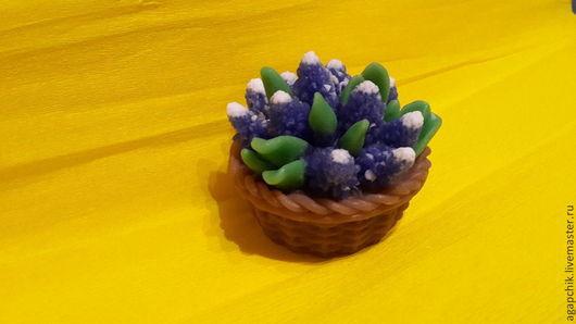 """Мыло ручной работы. Ярмарка Мастеров - ручная работа. Купить Мыло""""Корзинка с мускари"""". Handmade. Мыльные цветы, оригинальный подарок, женщине"""