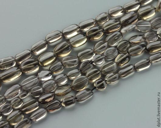 Для украшений ручной работы. Ярмарка Мастеров - ручная работа. Купить Дымчатый кварц овал нить (Код: бк397). Handmade.