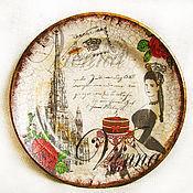 """Посуда ручной работы. Ярмарка Мастеров - ручная работа Тарелка """"Венский бал"""". Handmade."""