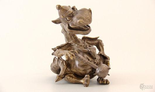 Статуэтки ручной работы. Ярмарка Мастеров - ручная работа. Купить Дракон (в/к). Handmade. Дракон, дракоша, статуэтка, скульптурная миниатюра