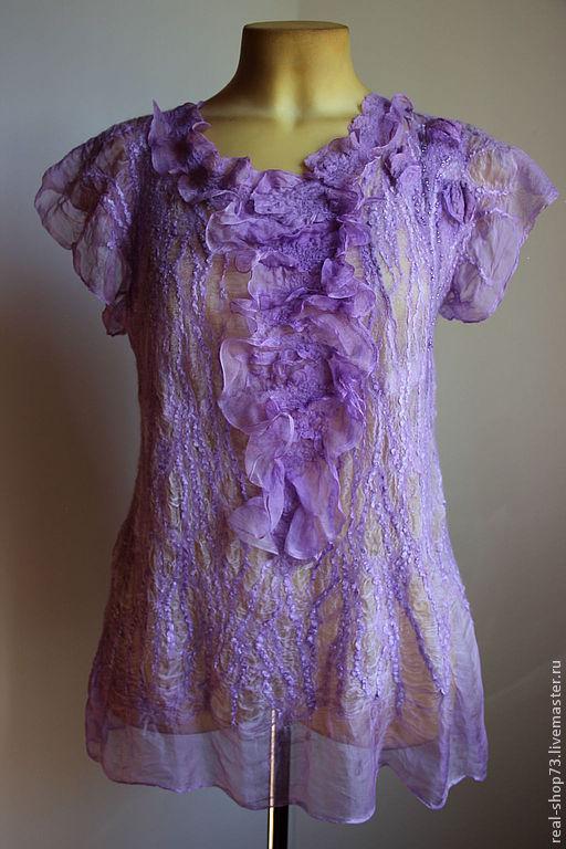 Блузки сиреневые
