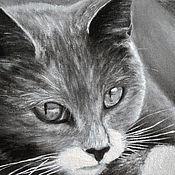 Картины и панно ручной работы. Ярмарка Мастеров - ручная работа Безмолвный наблюдатель (18 х 24 см). Handmade.