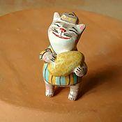 Для дома и интерьера handmade. Livemaster - original item Ceramic cat. Fruit series. Kotobuki. Melons. Handmade.