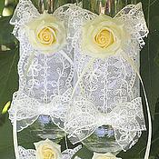 "Свадебный салон handmade. Livemaster - original item Свадебные бокалы  Фужеры ""Чайная роза"". Handmade."