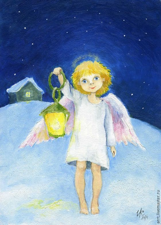 Angel with flashlight painting Reproduction, Gifts, St. Petersburg, Фото №1