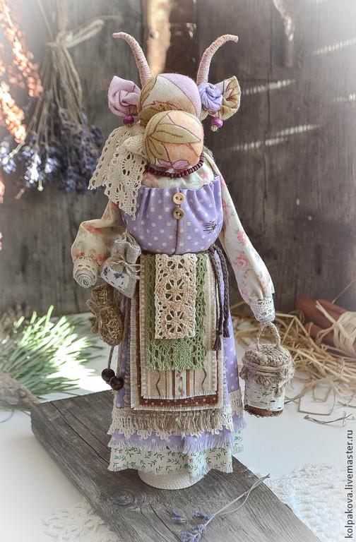 """Народные куклы ручной работы. Ярмарка Мастеров - ручная работа. Купить кукла-оберег Коза """"Душечка"""".. Handmade. Хлопок"""