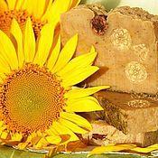 Косметика ручной работы handmade. Livemaster - original item Soap from scratch organic Calendula and sunflower yellow. Handmade.