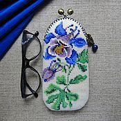 Сумки и аксессуары handmade. Livemaster - original item eyeglass case: Aquilegia (Columbine). Handmade.