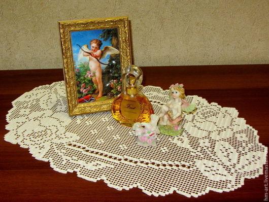 """Текстиль, ковры ручной работы. Ярмарка Мастеров - ручная работа. Купить Салфетка """"Вдохновение"""". Handmade. Бежевый, винтажный стиль"""