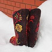 """Обувь ручной работы. Ярмарка Мастеров - ручная работа Валенки женские """"Хохлома"""". Handmade."""