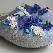 """Обувь ручной работы. Ярмарка Мастеров - ручная работа Тапочки-шлепки """"Полевые цветы"""".. Handmade."""