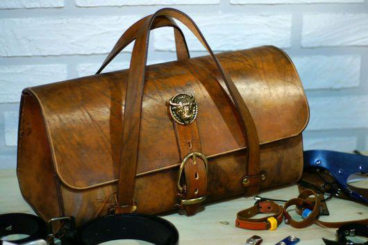 Мужские сумки ручной работы. Ярмарка Мастеров - ручная работа. Купить Буйвол #2. Handmade. Саквояж, подарок, натуральная кожа