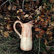 Для дома и интерьера ручной работы. Ярмарка Мастеров - ручная работа Осенний керамический кувшин. Handmade.