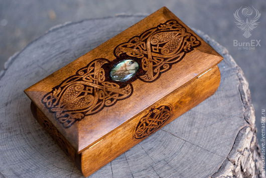 """Шкатулки ручной работы. Ярмарка Мастеров - ручная работа. Купить Шкатулка """"Celt's Treasure 2"""". Handmade. Коричневый, шкатулка для денег"""