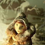 Куклы и игрушки ручной работы. Ярмарка Мастеров - ручная работа Елочная игрушка из ваты.Зина.. Handmade.