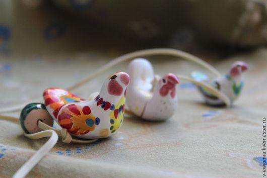 Подвески ручной работы. Ярмарка Мастеров - ручная работа. Купить Керамические бусины Птички-подвески. Handmade. Белый, бусины, глина