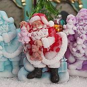 """Подарки к праздникам ручной работы. Ярмарка Мастеров - ручная работа Мыло """"Санта с игрушками"""". Handmade."""