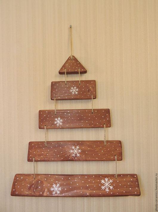 Подвески ручной работы. Ярмарка Мастеров - ручная работа. Купить Елка деревянная. Handmade. Коричневый, деревянная елка, елка на стену
