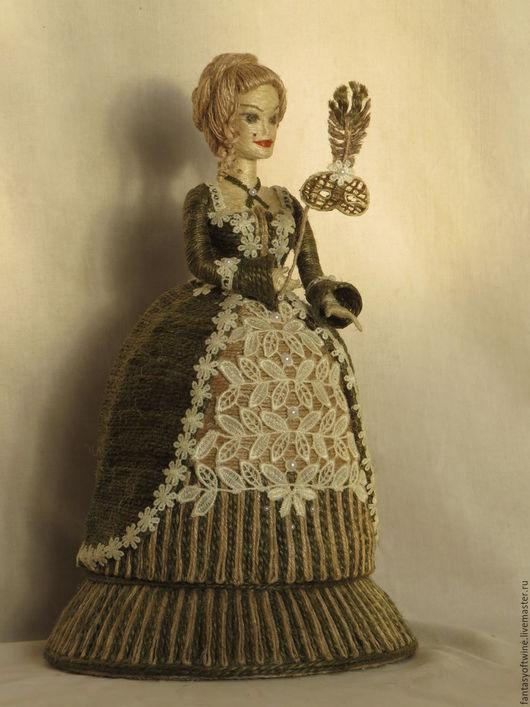 Шкатулки ручной работы. Ярмарка Мастеров - ручная работа. Купить Шпагатная кукла-шкатулка. Handmade. Кукла, подарок, джутовый шпагат