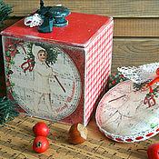 Подарки к праздникам ручной работы. Ярмарка Мастеров - ручная работа Снежная зима - коробочка и медальон. Handmade.