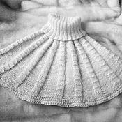 Аксессуары ручной работы. Ярмарка Мастеров - ручная работа Манишка вязаная спицами. Handmade.