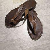 Обувь ручной работы handmade. Livemaster - original item Handmade leather flip flops. Handmade.