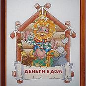 """Картины и панно ручной работы. Ярмарка Мастеров - ручная работа Картина крестиком """"Деньги в дом"""". Handmade."""