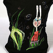 """Одежда ручной работы. Ярмарка Мастеров - ручная работа Футболка """"Кролик"""". Handmade."""