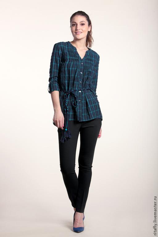 рубашка женская на пуговицах из сжатого хлопка рубашка летняя рубашка из хлопка рубашка хлопок рубашка в клетку рубашка в клеточку рубашка на лето блузка на пуговицах блузка летняя блузка в клеточку б