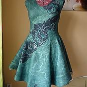 """Одежда ручной работы. Ярмарка Мастеров - ручная работа Валяное платье """" Изумрудный """" 2 в 1. Handmade."""
