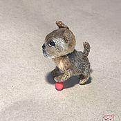 Тедди Зверята ручной работы. Ярмарка Мастеров - ручная работа Тедди Зверята: Йоркширский терьер. Handmade.