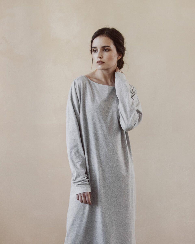 Трикотажное платье оверсайз со спущенным рукавом, Платья, Москва,  Фото №1