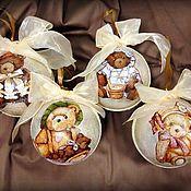 """Подарки к праздникам ручной работы. Ярмарка Мастеров - ручная работа """"Винтажные медвежата"""". Handmade."""