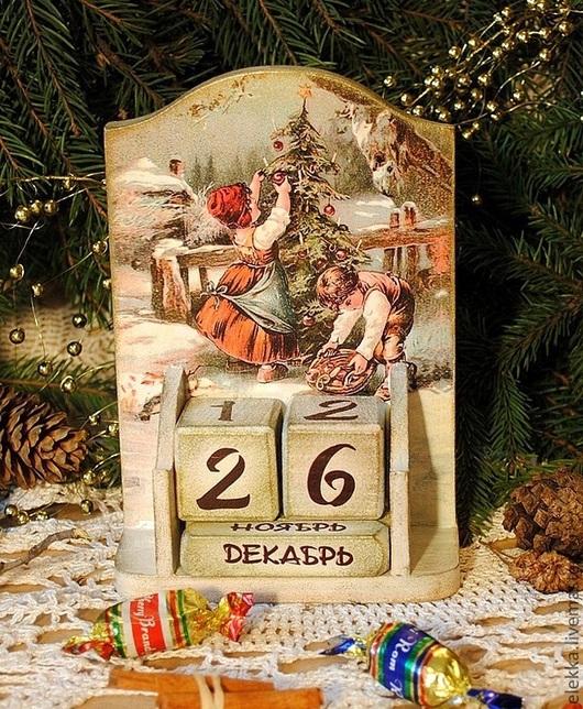 """Новый год 2017 ручной работы. Ярмарка Мастеров - ручная работа. Купить Вечный календарь """"Merry Christmas"""". Handmade. Новый Год"""