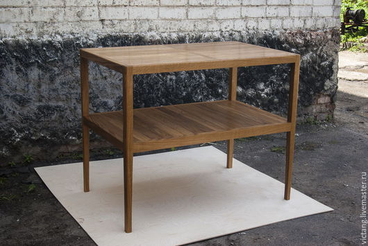 Мебель ручной работы. Ярмарка Мастеров - ручная работа. Купить Тумба-витрина из дуба. Handmade. Коричневый, дерево