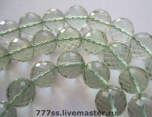 Для украшений ручной работы. Ярмарка Мастеров - ручная работа. Купить Зеленый аметист бусина шарик. Handmade. Бусина