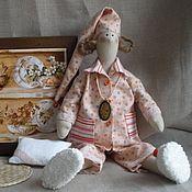 Куклы и игрушки ручной работы. Ярмарка Мастеров - ручная работа тильда ангел  сплюшка Персиковые  сны. Handmade.